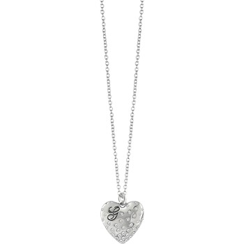 Guess - Collier Glossy Heart - Argent