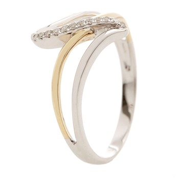 Meli-Melo - Bague en or bicolore avec diamants 0.04 ct - bicolore