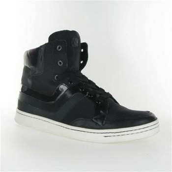 M by - Baskets montantes en cuir - noir