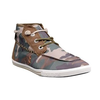 Tennis/Baskets/Sneakers Peopleswalk GENNAKER 0052W Camouflage Textile Gomme / Camouflage