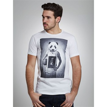 Wap Two - Panda - T-shirt - blanc