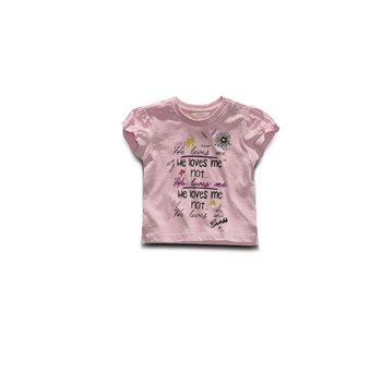 He loves me - T-shirt manches courtes - rose