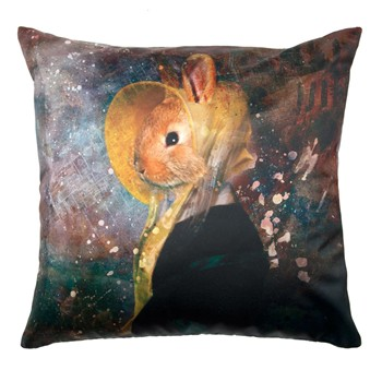 Antique rabbit - Coussin - multicolore