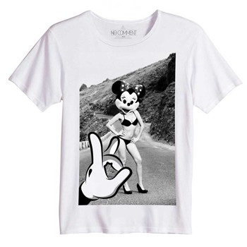 No Comment Paris - Sexy Mickey - T-shirt Imprimé Bio - blanc - 1598264