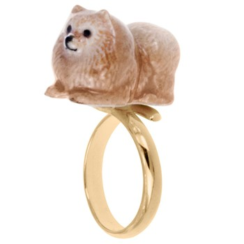 Nach - Chien Spitz - Anillo ajustable - marrón claro