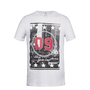 Wap Two - Harlem - T-shirt imprimé - gris chine