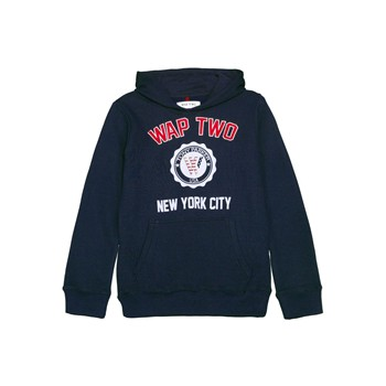 Wap Two - New york - Sweat à capuche - bleu marine - 1606450