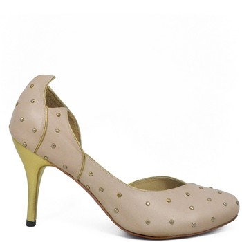 Dallas - Escarpins en cuir - or