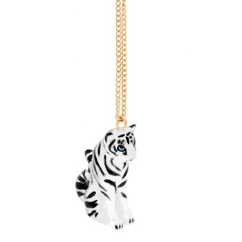 Tigre Blanc - Mini Collier - blanc