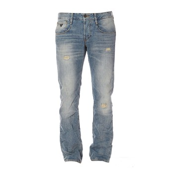 Guess - Straight Bleached Lesson - Jean slim - bleu - 1601277