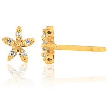 Carashop - Pendientes con diamantes - amarillo