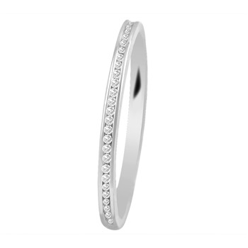 Bague en or blanc 18 carats et diamants - blanc