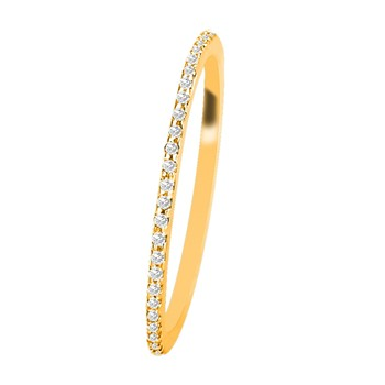 Bague en or jaune 18 carats et diamants - jaune