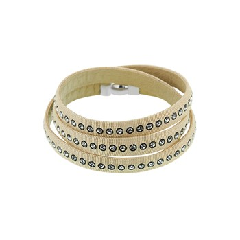 Bracelet double tour - beige