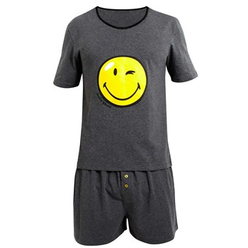 Pomm'Poire - Happy Night by Smiley - Pyjama - gris - 1685394