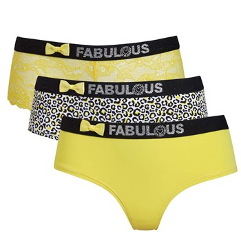 Pomm'Poire - Fabulous - Lot de 3 shortys - jaune - 1685476