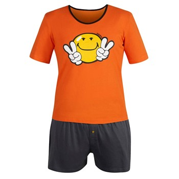 Night by Smiley - Ensemble pyjama court - orange