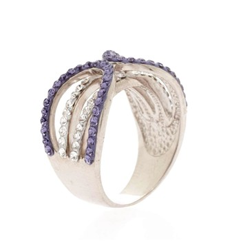 Original Crystal - Ensemble Violet et Crystal - Ring - violett
