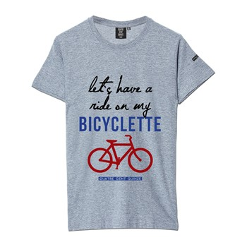 Quatre Cent Quinze - Bicyclette - T-shirt - gris - 1705494