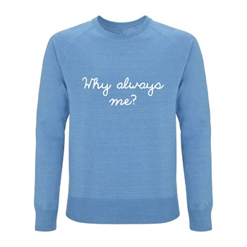 Quatre Cent Quinze - Why Always Me? - Sweat-shirt - bleu ciel - 1705536
