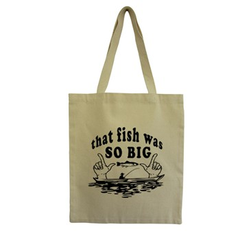 Fish - Tote Bag - ecru