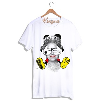 Kingies - QUEEN MICKEY - T-shirt - blanc - 1742250