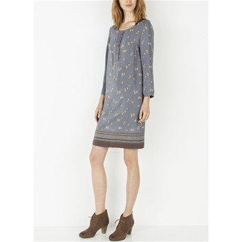 Somewhere - Robe-housse fluide en crêpe de viscose - gris