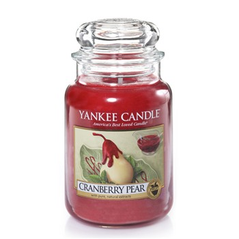Yankee Candle - Canneberge Poire - Grande Jarre - rouge