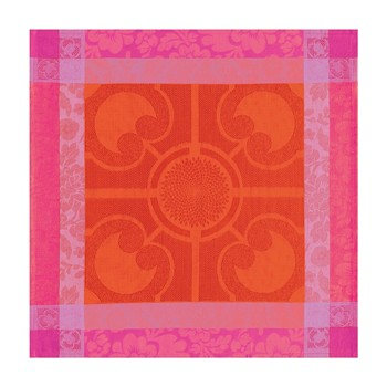 Le Jacquard Français - Jardin royal - Serviette - rouge et orange - 1758911