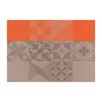 Le Jacquard Français - Demeure en ville - Set de table - orange - 1758940