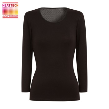 Princesse tam.tam - Inner Uniqlo Heattech - Top - noir - 1781170