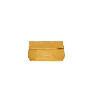 Pochette Medium en Cuir - moutarde