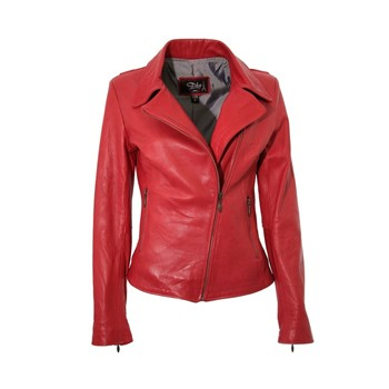 New Envy - Biker en cuir - rouge