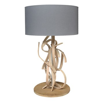 Limelo design - Emma - Lampe de table design en bois - Gris anthracite