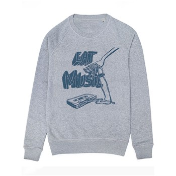 Monsieur Poulet - Eat Music - Sweat-shirt - azur - 1819846
