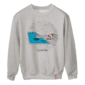 Lundi Midi - Swimming Pool - Sweat-shirt - gris - 1832007