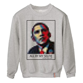 Lundi Midi - Obama - Sweat-shirt - gris - 1832009