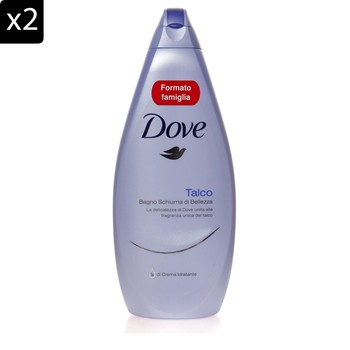Dove - Lot de 2 gels douche Talc - 700 ml - 1835220