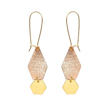 Charly James - Anna - Boucles d'oreilles - bicolore