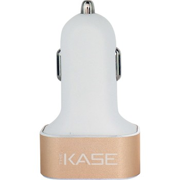 The Kase - Smartphones et Tablettes - Chargeur allume-cigare triple USB - or - 1864220