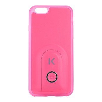 The Kase - iPhone 6 + - Coque selfie bluetooth - rose
