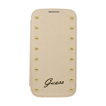 The Kase - Samsung Galaxy S4 - Coque clapet cloutée - beige - 1863818