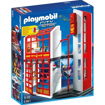Playmobil - City action - Caserne de pompier - multicolore - 1862164