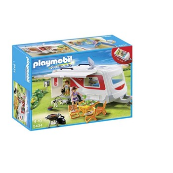 Playmobil - Summer fun - Caravane camping - multicolore - 1861853