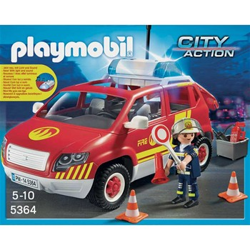 Playmobil - City Action - Vehicule d'intervention avec sirène - multicolore - 1859200