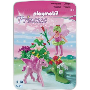 Playmobil - Princess - Fée Printemps et Poulain Ailé - multicolore - 1859204