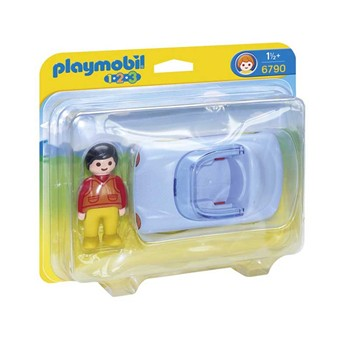 Playmobil - 1.2.3 - Voiture cabriolet - multicolore - 1861236
