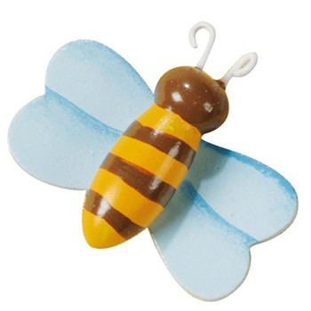 Sachet de 8 abeilles décoratives - multicolore