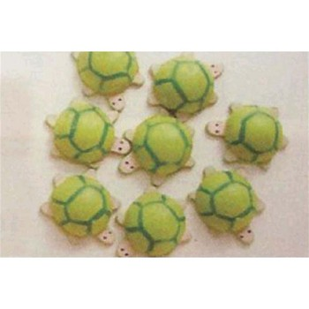 Lot de 8 tortues décoratives - multicolore