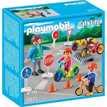 Playmobil - City Life - Enfants avec agent de police - multicolore - 1858829